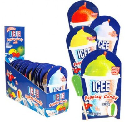 ICEE POPPING CANDY with LOLLIPOP 18ct.