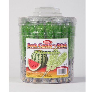 Rock Candy on a Stick 36ct. Tub Light Green (Watermelon Flavor)
