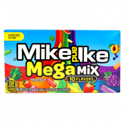 Mike & Ike Mega Mix 5oz. Movie Theater Box