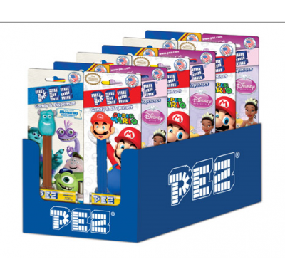 Pez Favorites 12ct. Blister Card Display