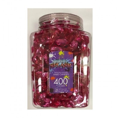 Wrapped Hard Candy Pink Foil 400ct.
