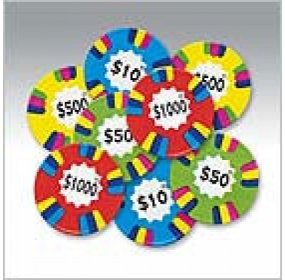 POKER CHIPS MILK CHOC<br />ASST. COLORS