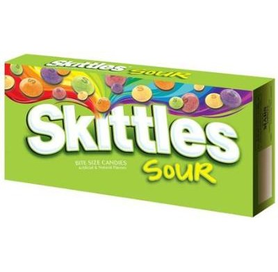 SKITTLES SOUR 3.6oz. MOVIE THEATER BOX