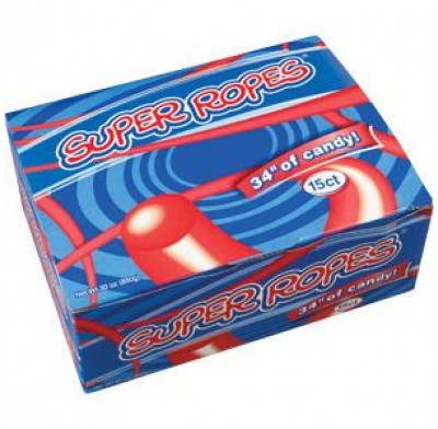SUPER ROPES STRAWBERRY 15ct.
