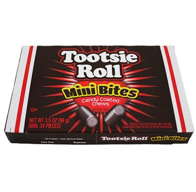 Tootsie Roll Mini Bites 3.5oz. Movie Theater Box