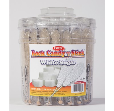 Rock Candy on a Stick 36ct. Tub White (Plain)