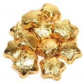 Milk Chocolate Gold Foiled Stars