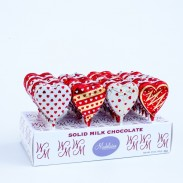 Madelaine Milk Chocolate Valentine Heart Pops 24ct.