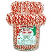 Candy Canes 1oz. Pail Display 80ct.