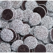 Nonpareils Dark Chocolate With White Seeds 1 lb. Bag