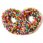 Pretzels Mini Milk Chocolate With Rainbow Nonpareils