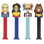 Pez Super Heros Girls 12ct. Blister Card Display