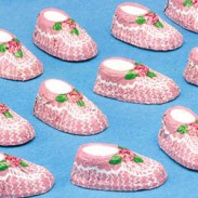 BABY BOOTIES PINK-64 COUNT