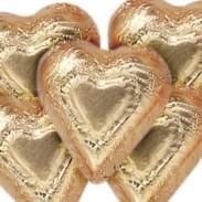 Dark Chocolate Bronze Foiled Hearts