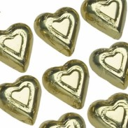Milk Chocolate Gold Hearts Foiled