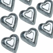 Milk Chocolate Silver Hearts Foiled