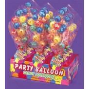 PARTY BALLOON CANDY LOLLIPOPS 12ct.